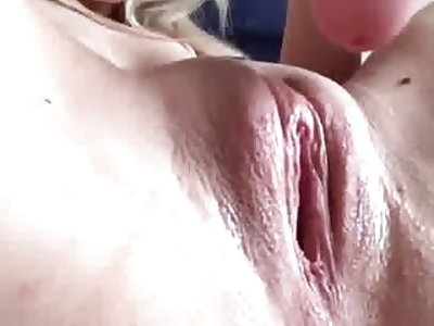 Gorgeous blonde Masturbation